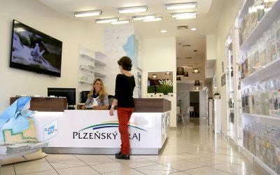 Informationszentren in Pilsen und Budweis